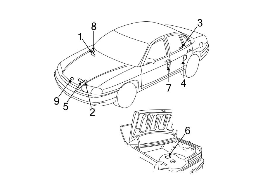 Chevrolet Malibu Engine Decal. Jack usage information