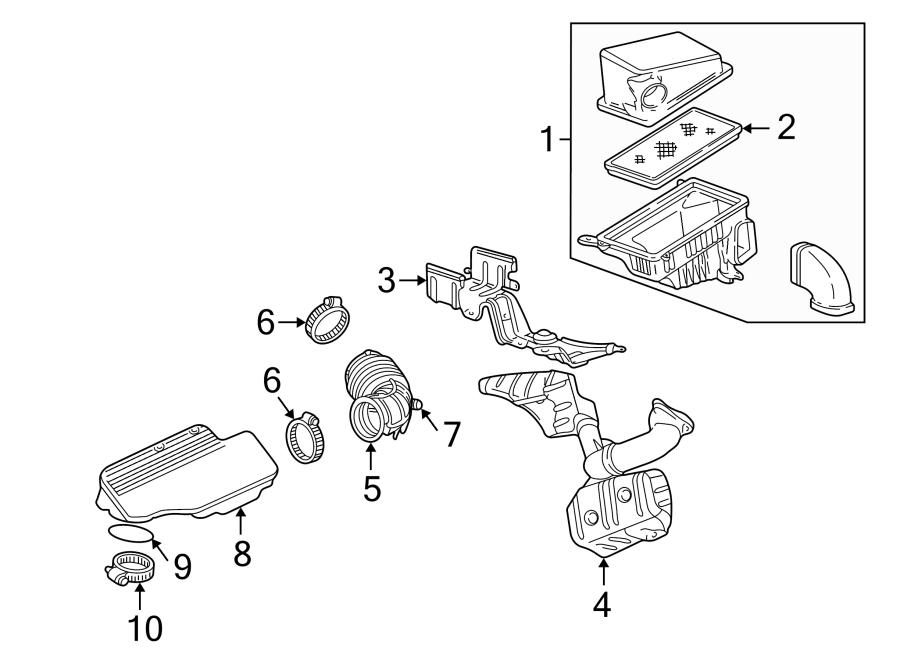 Chevrolet Malibu Seal. Resonator. Air. Intake. Engine