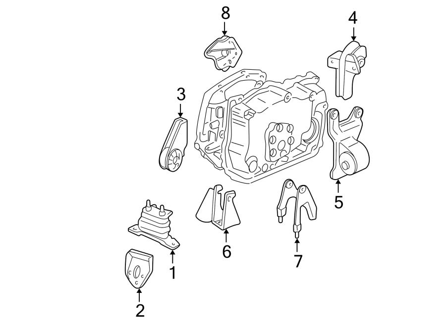 Chevrolet Malibu Mount. Bracket. Transmission. (Rear). 2.4