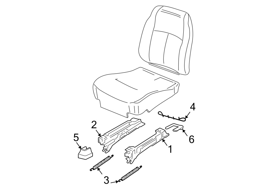 Chevrolet Malibu Seat Track Cover (Front). MANUAL, front