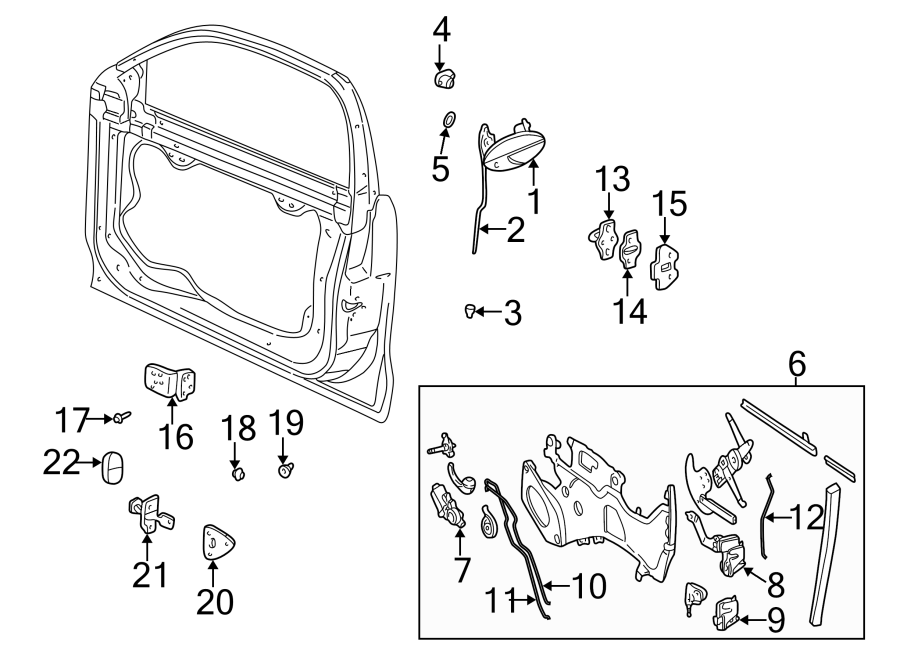 Chevrolet Malibu Door Latch Assembly (Upper). All Models