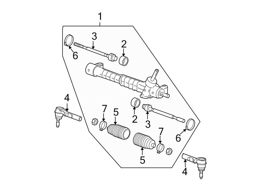 Chevrolet Malibu Rack and Pinion Assembly. STEERING, Model