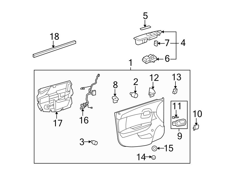 Chevrolet Malibu Door Wiring Harness. FRONT, Left