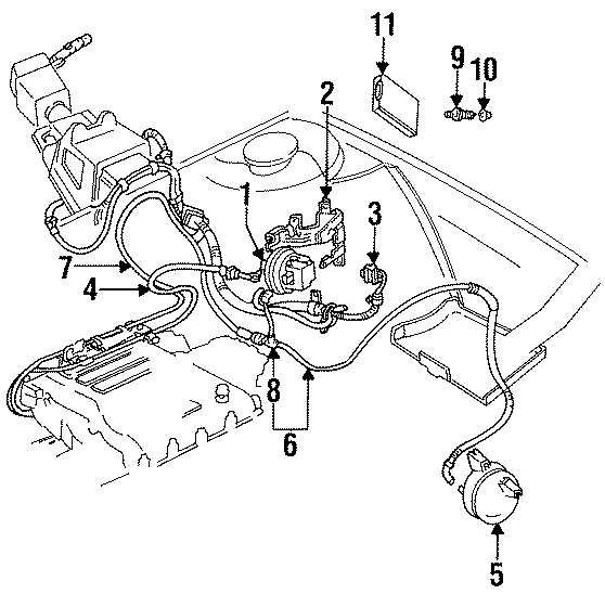 Chevrolet Lumina Hose Assembly. Vacuum harness. 2.8 & 3.1