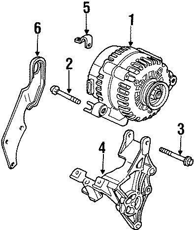 Chevrolet Lumina Alternator Bolt. 3.1 LITER, 2000-01