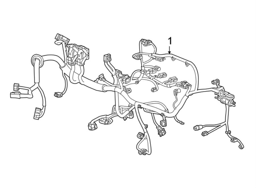 Chevrolet Spark Engine Wiring Harness. Manual trans, w/o