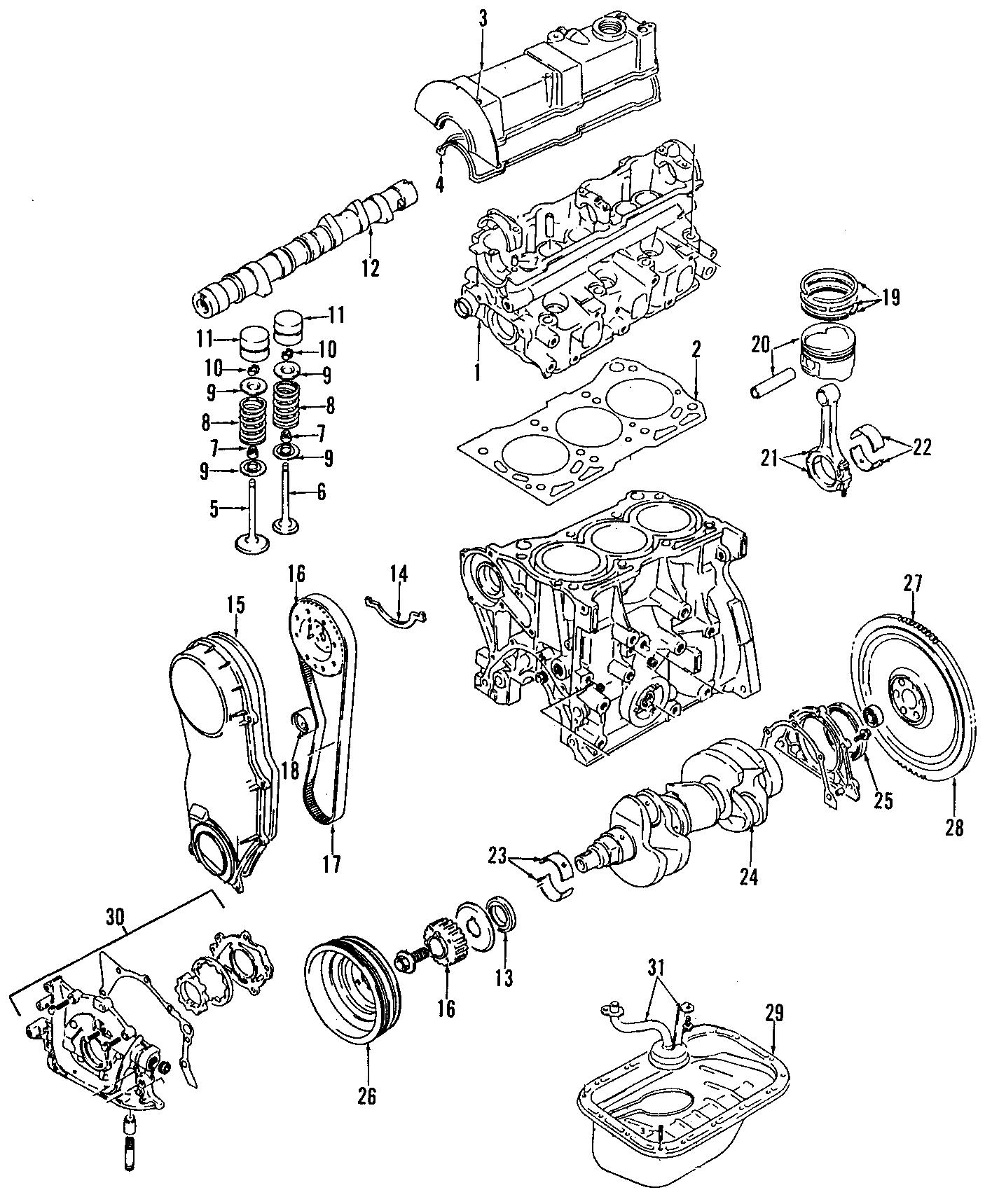 Chevrolet Metro Engine Camshaft Follower. Metro. Tracker