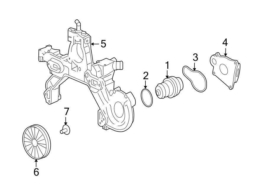 Cadillac DTS Water. Pump. Seal. Ring. Engine. 4.0 LITER