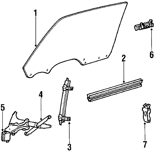 Cadillac Fleetwood Lock assembly. 4 door. 4 door; right. 4
