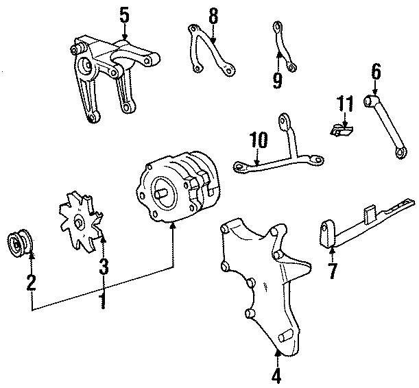 Chevrolet C2500 Suburban Fan. Alternator. Pulley