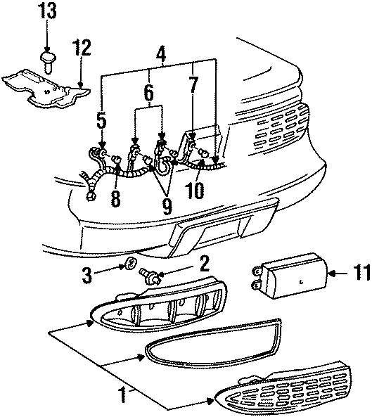 Pontiac Firebird Back Up Light Socket. 1993-97, back up