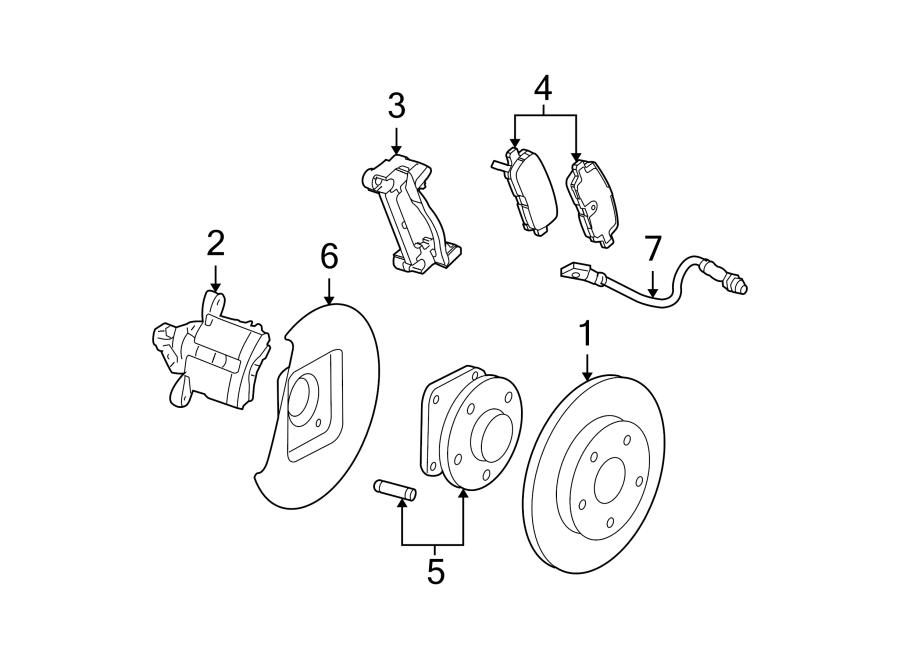 Pontiac Grand Prix Disc Brake Caliper Bracket (Rear). 3.8