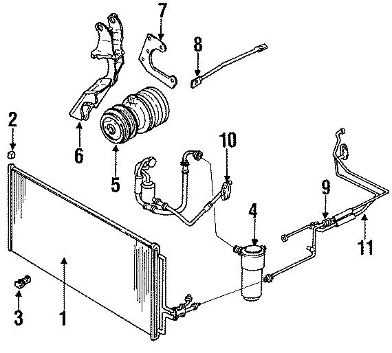 Pontiac Grand Prix A/c refrigerant hose. Evaporator, air