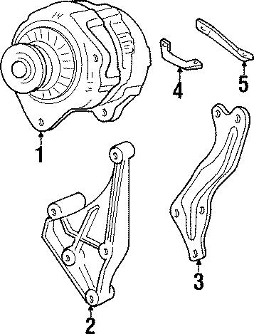 Pontiac Grand Prix Alternator Bracket (Front, Rear). 3.1