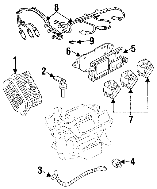 Pontiac Grand Prix Engine Camshaft Position Sensor. SENSOR