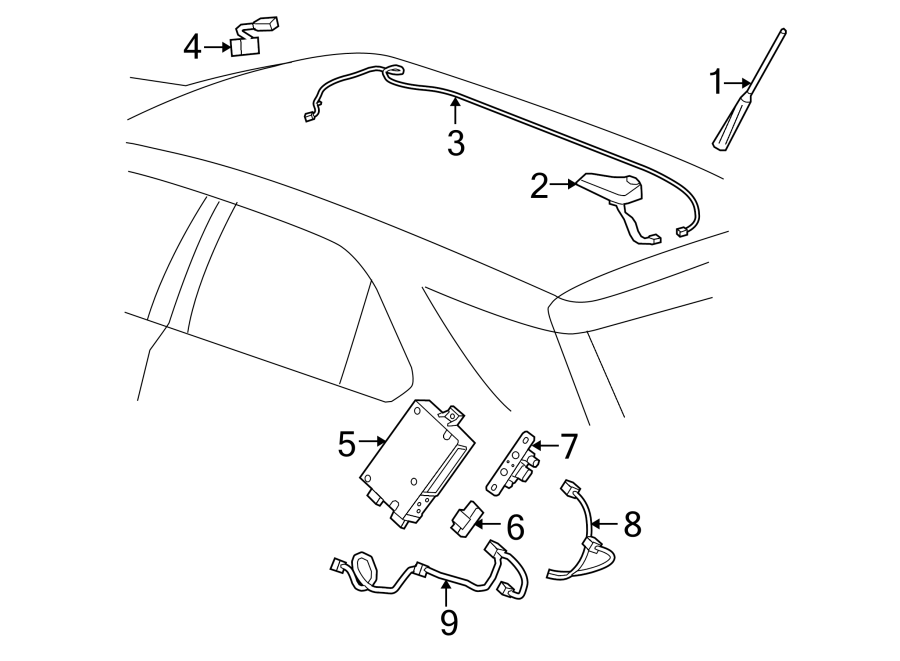 GMC Terrain Wiring Harness Connector. W/navigation system