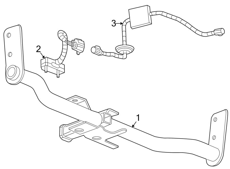 GMC Terrain Wiring Harness Connector (Rear). 2010-15. 2016