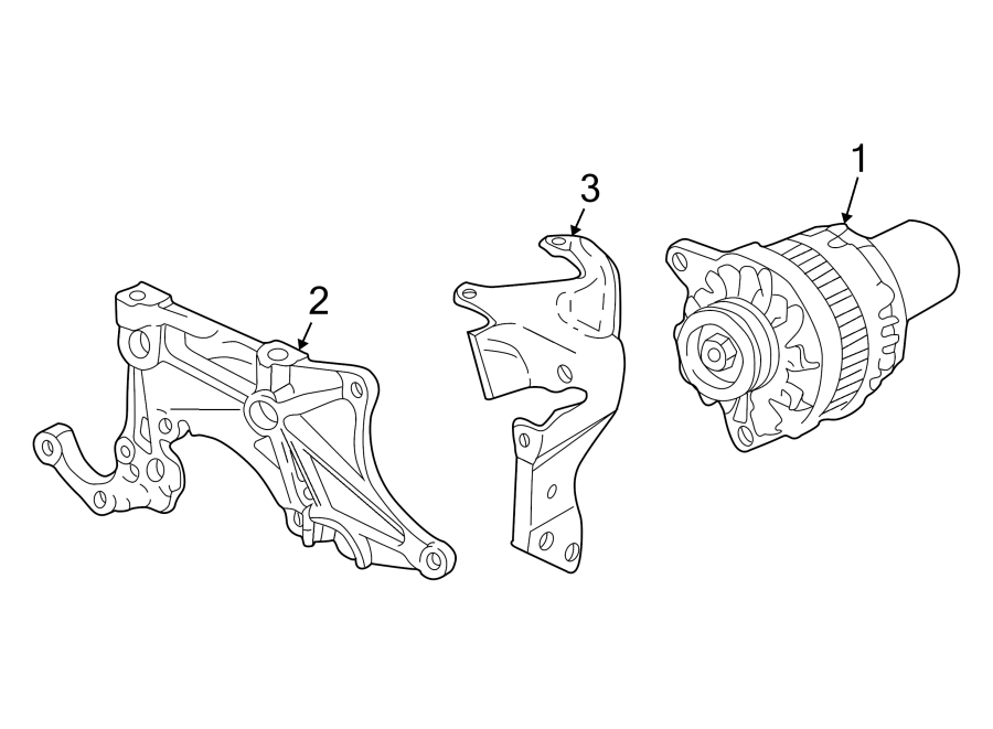 Pontiac Sunfire Alternator Bracket (Front). 2.2 LITER, W/O