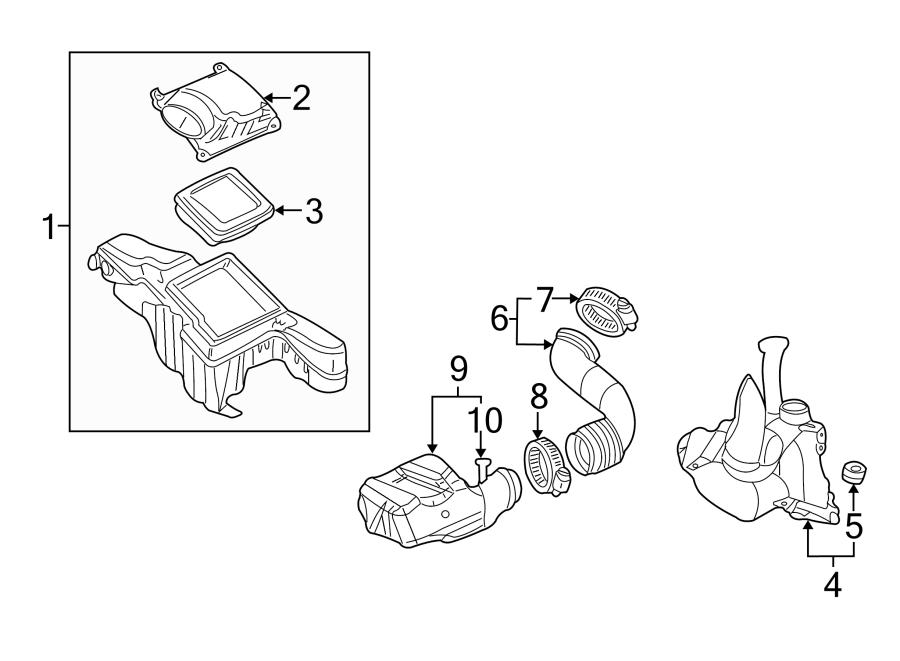 Pontiac Sunfire Engine Air Duct Clamp. 2.2 LITER, W/DOHC