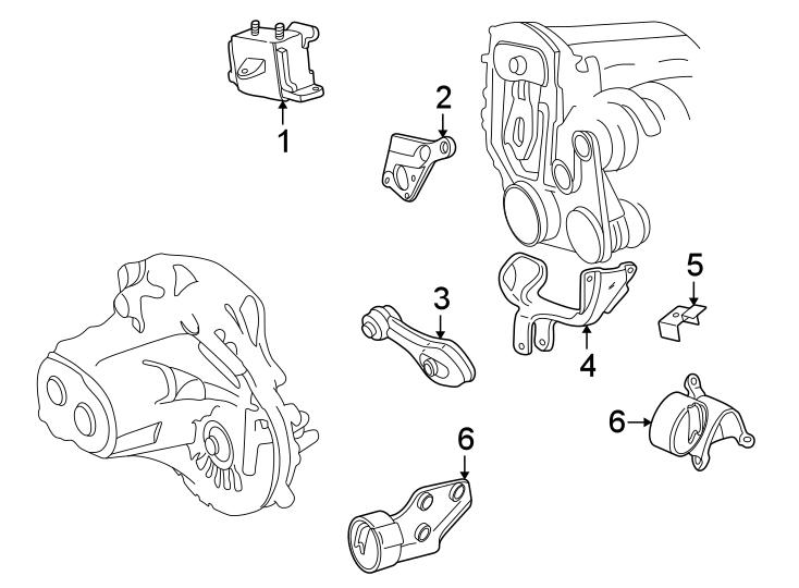 Chevrolet Cavalier Bracket. Engine. Support. Mount. Brace
