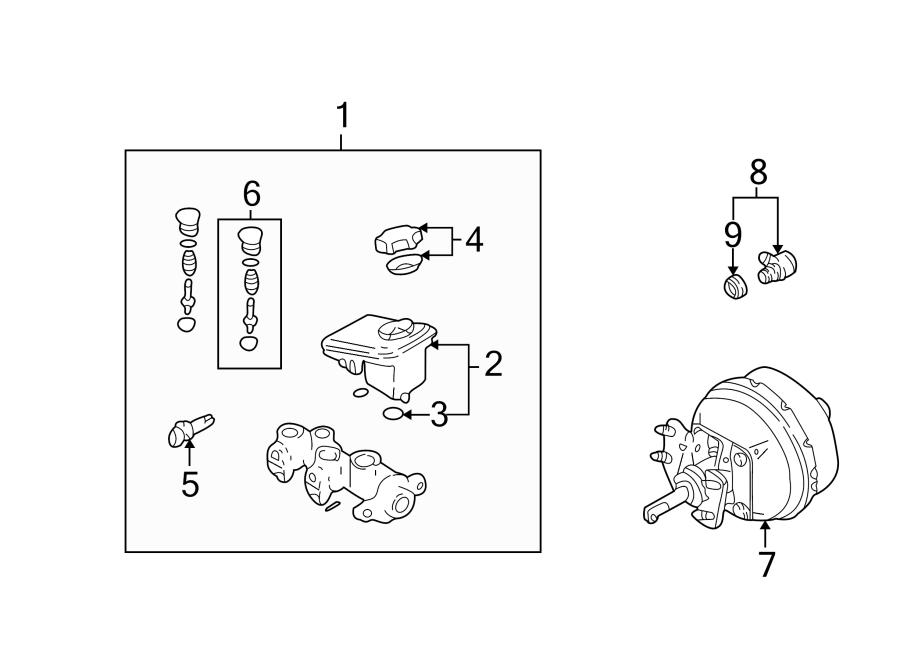 Pontiac Sunfire Cylinder, brake master cylinder. W/7/8 cyl