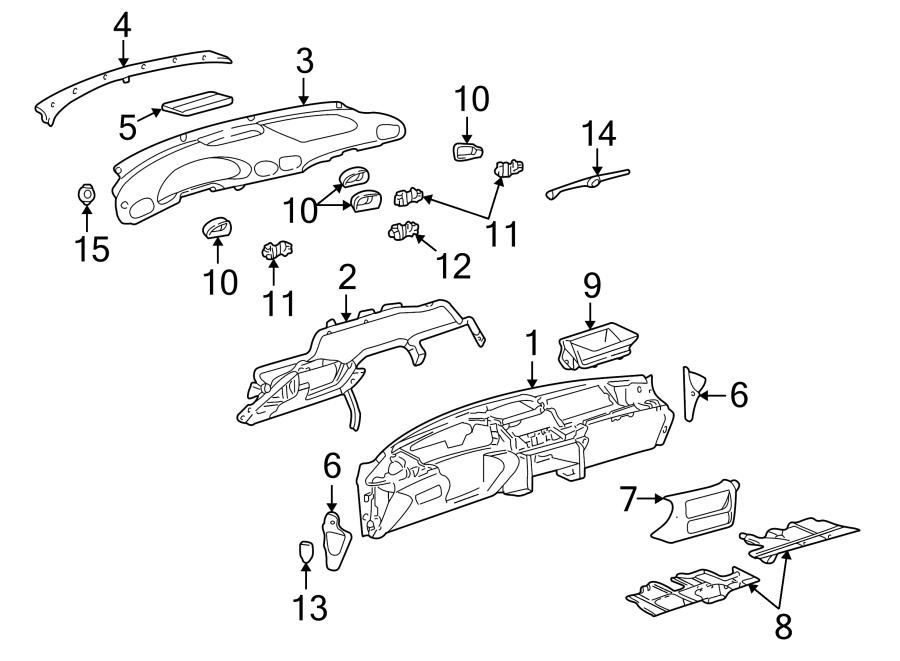 Pontiac Sunfire Instrument Panel Pad (Upper). Neutral