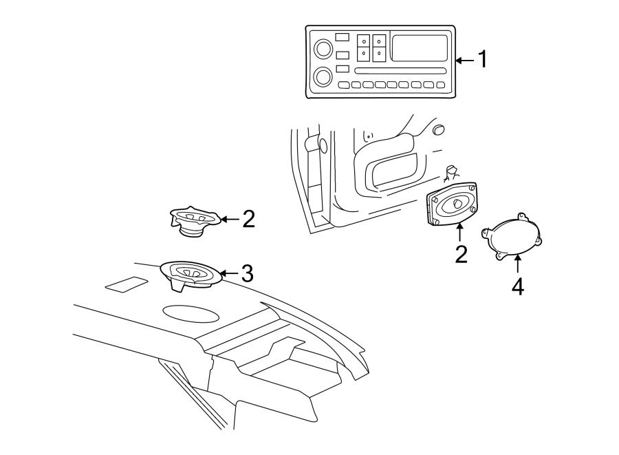 Pontiac Sunfire Speaker (Rear, Upper, Lower). Package tray