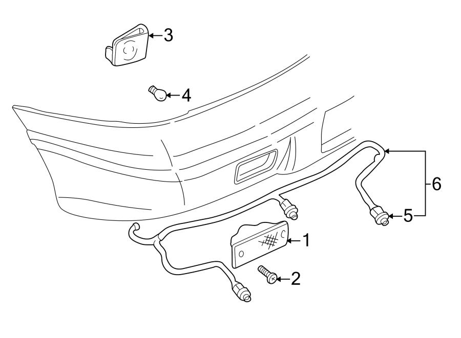 Pontiac Sunfire Nut. Lamp. Trim. (Upper, Lower). 2 DOOR