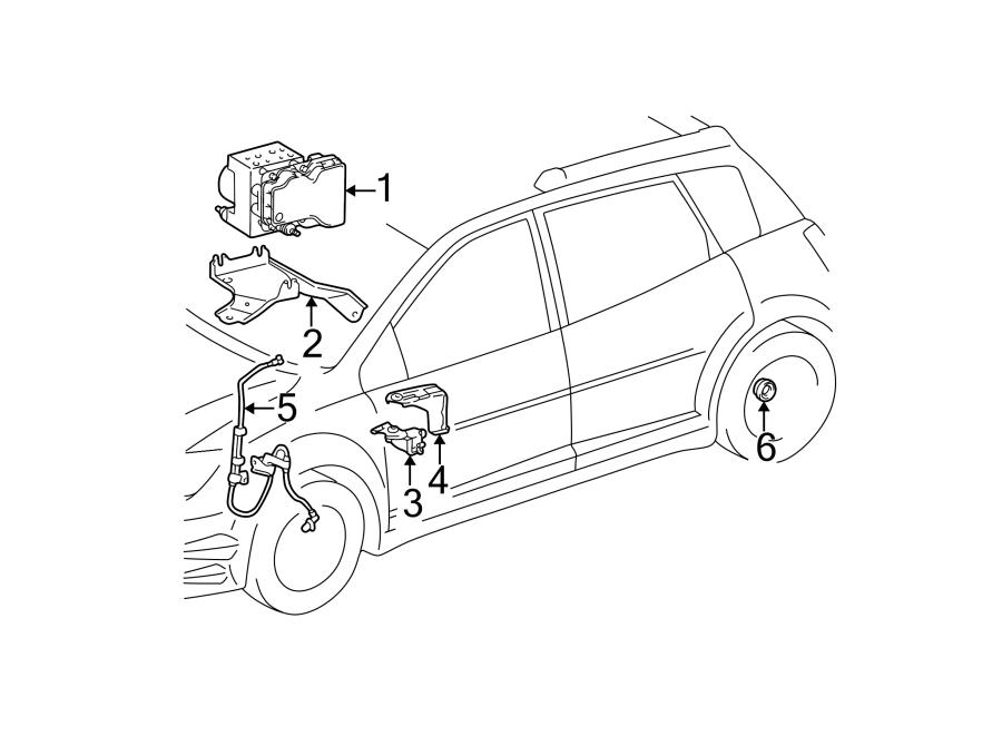 Pontiac Vibe Modulator. Valve. ABS. Actuator Assembly. FWD