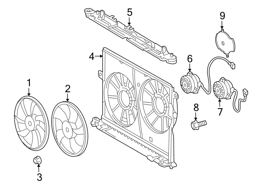 Pontiac Vibe Engine Cooling Fan Blade. 2.4 LITER. Vibe; 7