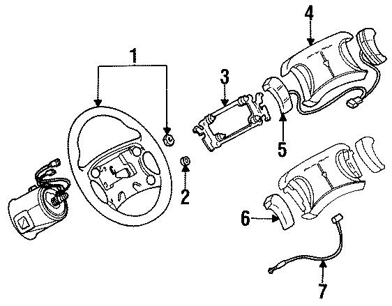 Pontiac Trans Sport Steering Wheel Wiring Harness. 1994-96