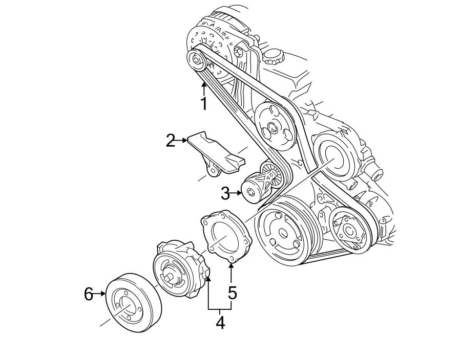 Chevrolet K1500 Serpentine Belt. Amp, BELTS, Drive