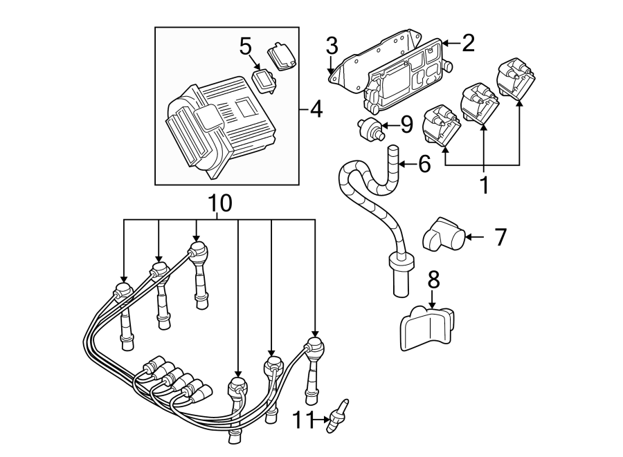 Pontiac Montana Engine Control Module. 3.1L. 3.4 liter. 3