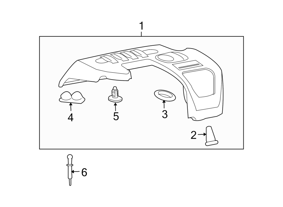 Pontiac G5 Engine Cover Mounting Bushing (Upper