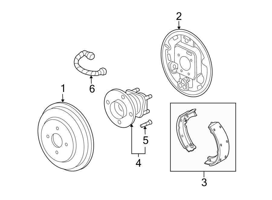 Pontiac G5 Wheel Bearing and Hub Assembly (Rear