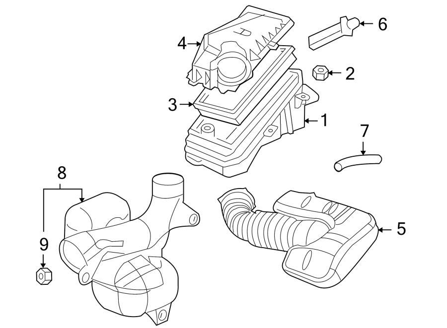 Pontiac G6 Mass Air Flow Sensor. LITER, Engine, TWIN