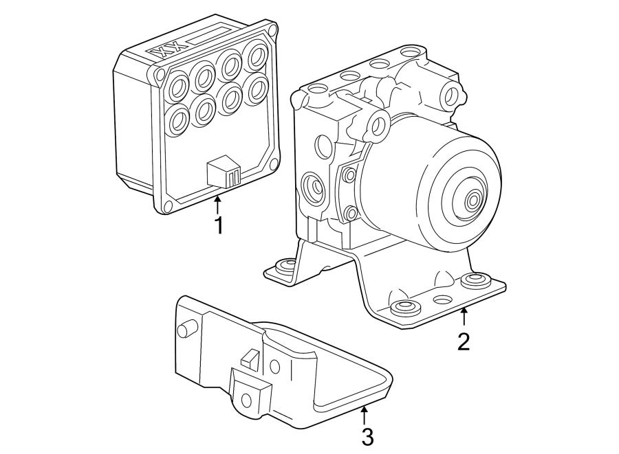 Pontiac G6 Abs control module. Components, light, model