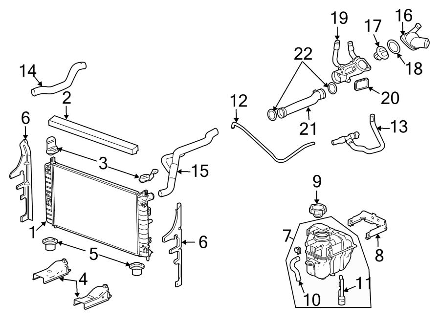 Pontiac G6 Engine Coolant Overflow Hose (Lower). 2.4 LITER