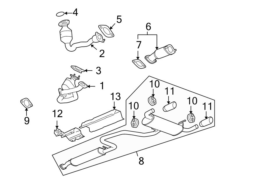 Pontiac G6 Exhaust Muffler. 3.6 LITER. G6; 3.6L. Pipe