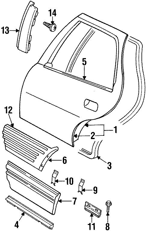 Pontiac Grand Prix Body side MOLDING retainer clip. BOLT