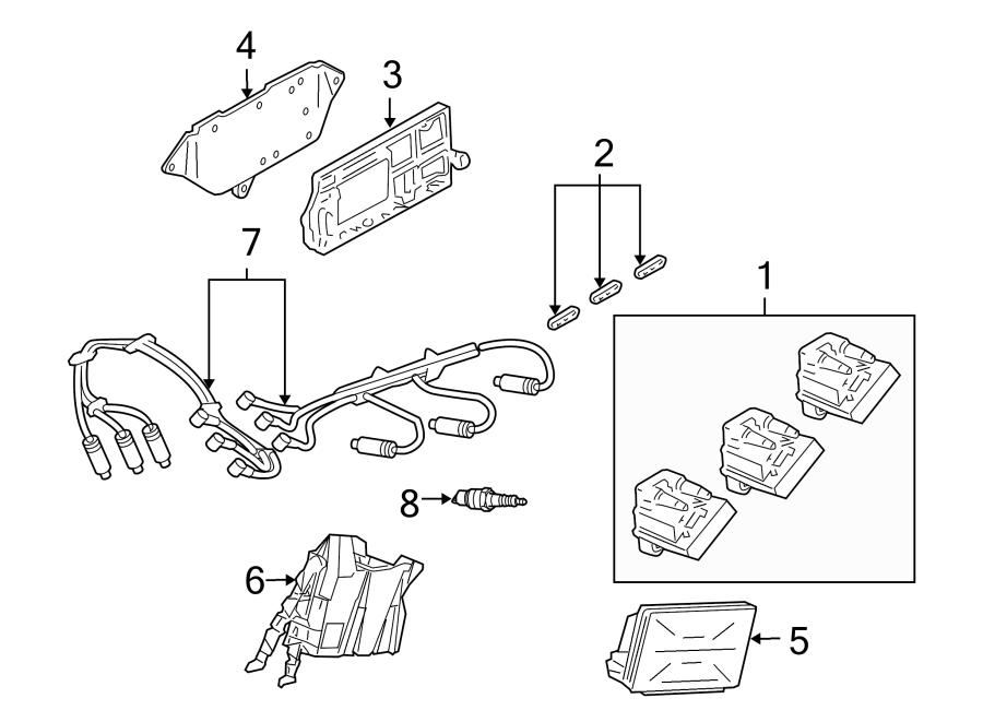 Buick Century Spark Plug Wire Set. Set. Wire. Plug. Kit