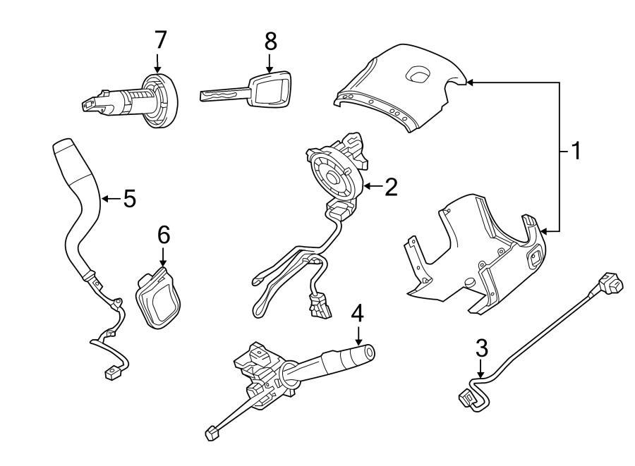 Chevrolet Suburban Steering Column Cover. Manual tilt