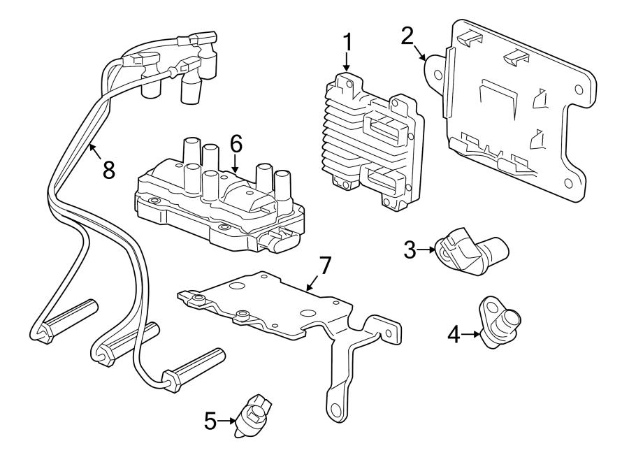 GMC Sierra 1500 Spark Plug Wire Set. Cable Set. Spark Plug