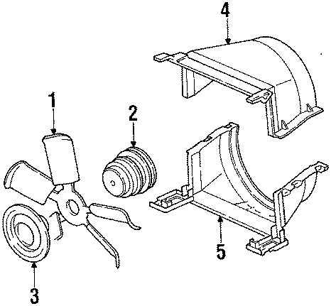 GMC Jimmy Engine Water Pump Pulley. Groove, CYLINDER