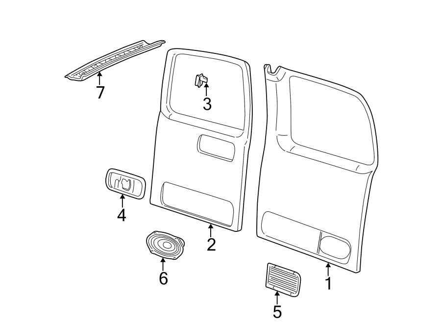 GMC Savana 1500 Door Interior Trim Panel. Chevrolet; GMC