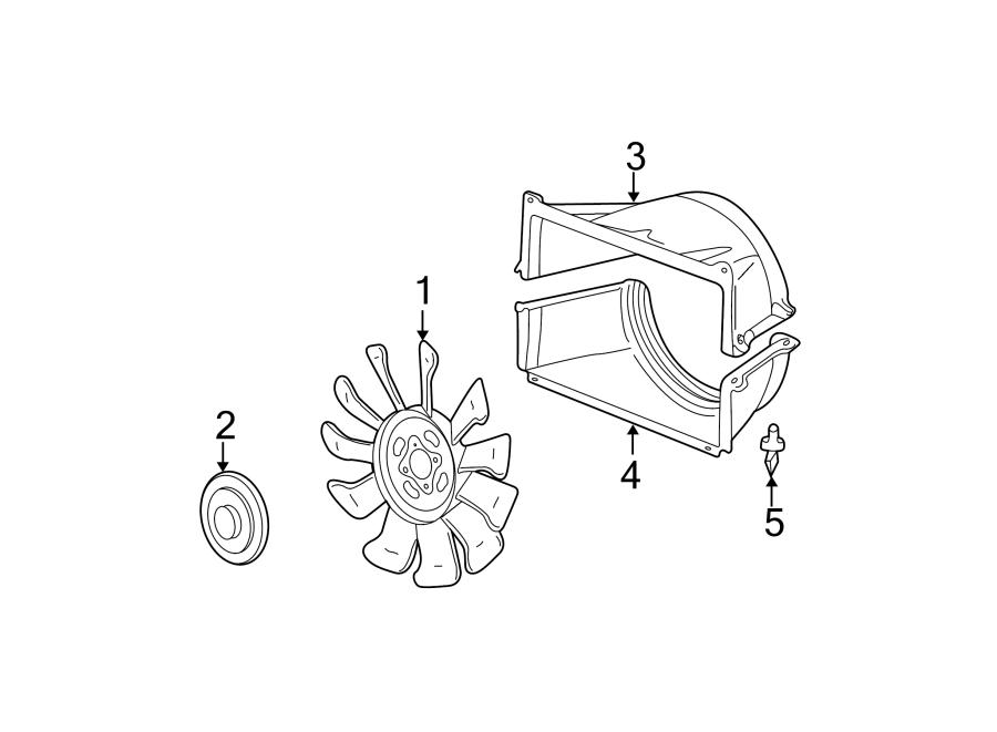GMC Yukon Engine Cooling Fan Shroud. LITER, Upper, Rear