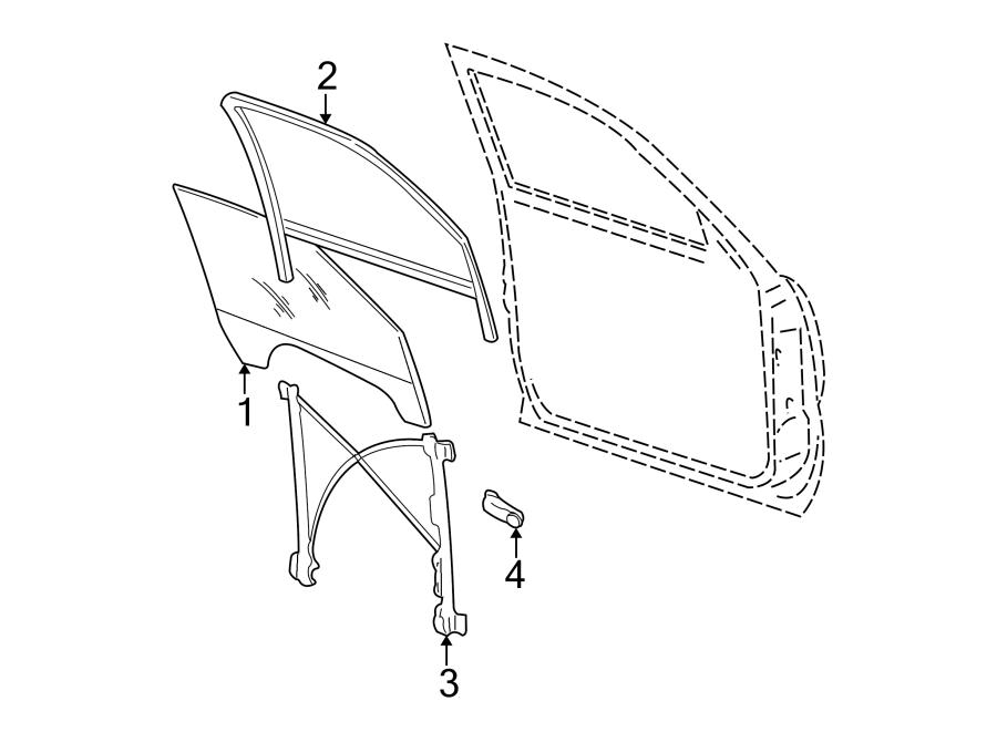 Cadillac Escalade EXT Window Regulator. Make, FRONT, DOOR