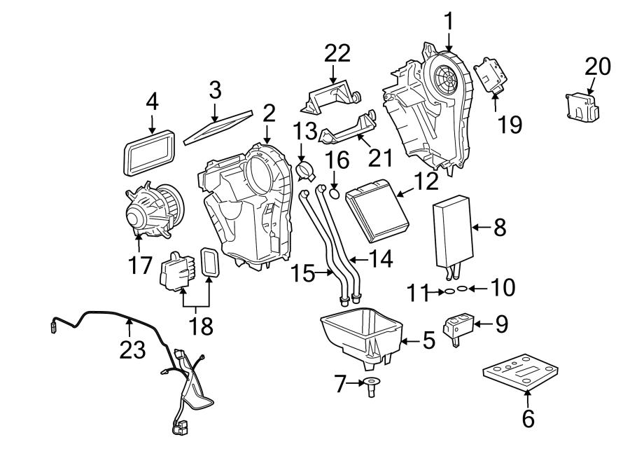 Cadillac Escalade Hvac system wiring harness. 1st design