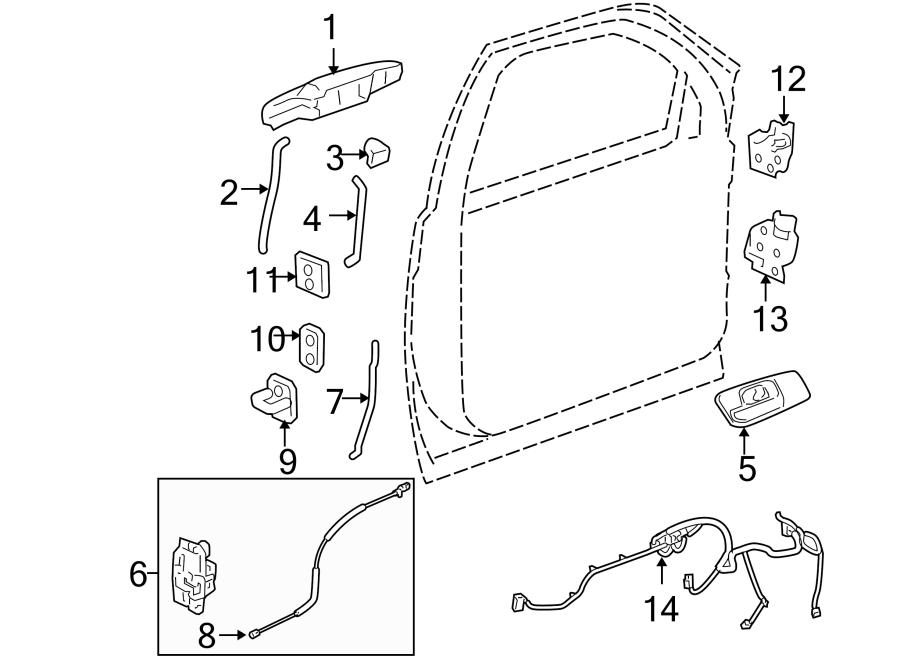 Cadillac Escalade Door Wiring Harness (Front). W/premium