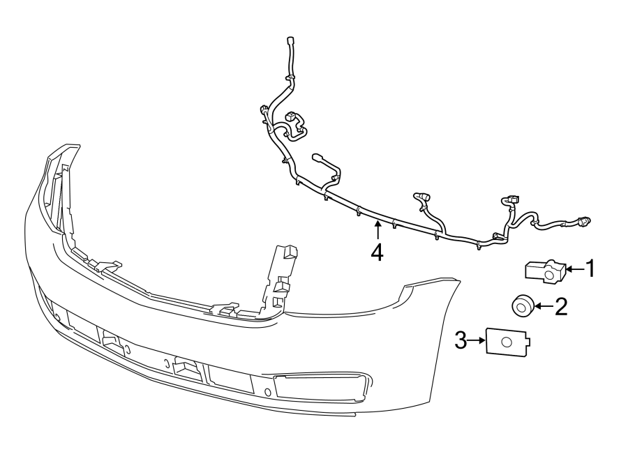 Chevrolet Tahoe Parking Aid System Wiring Harness